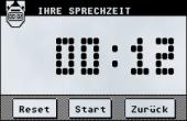 Eines von vielen Features: Uhr zur Kontrolle der Redezeit